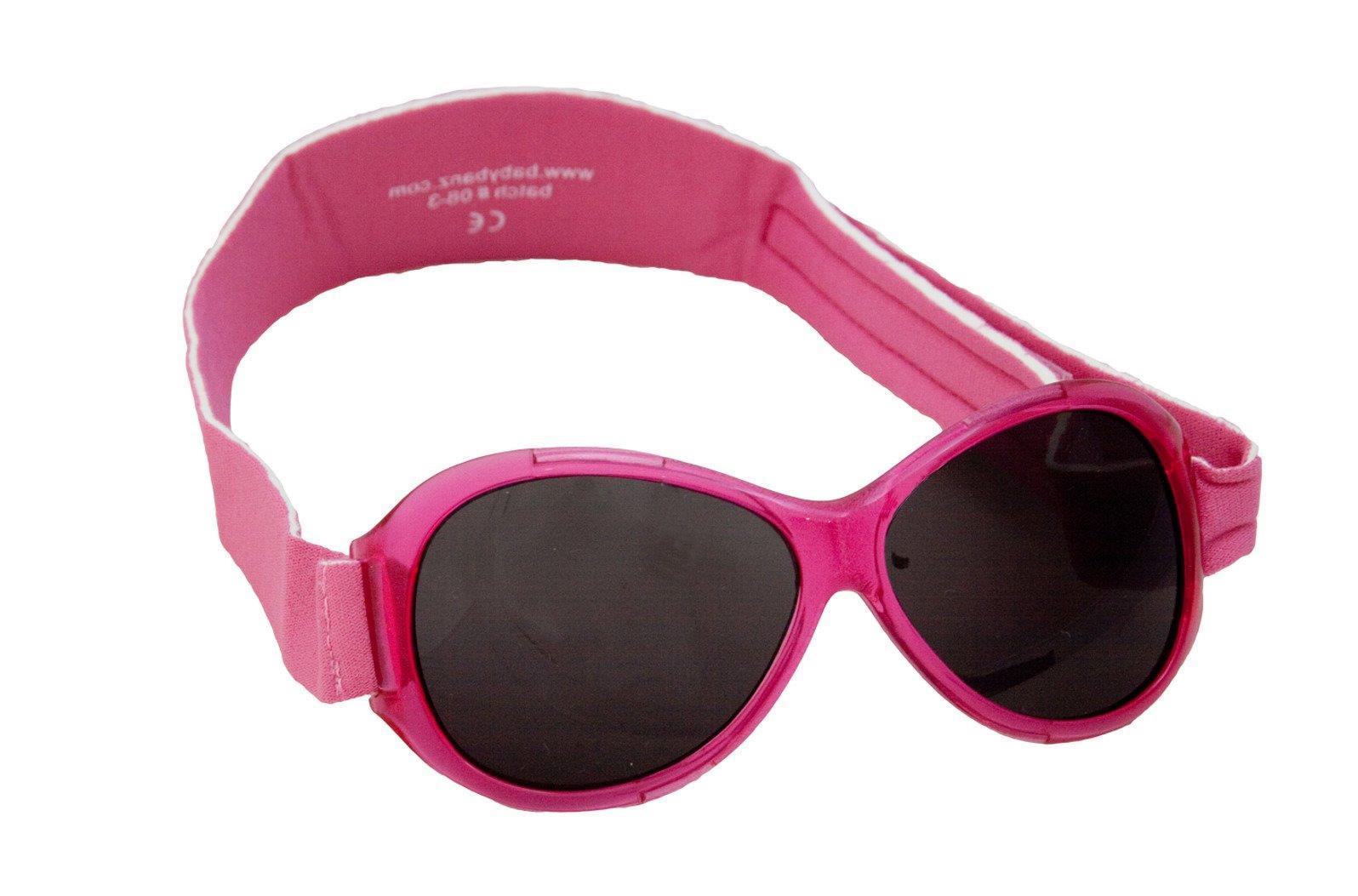 Okulary przeciwsłoneczne UV dzieci 2 5lat RETRO BANZ Pink